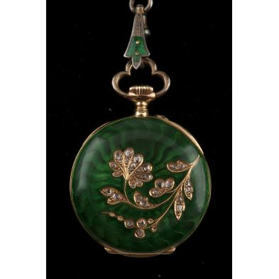 antique-enamel-and-diamond-lady-s-pocket-watch