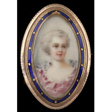 antique-gold-and-enamel-portrait-pendant-brooch