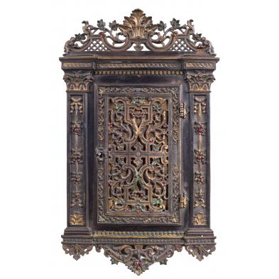 antique-german-decorative-hanging-wall-cabinet