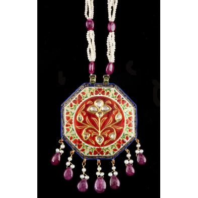 kundan-style-ruby-pearl-and-diamond-necklace