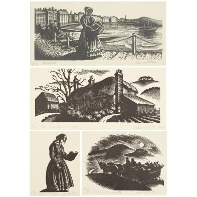 clare-leighton-1898-1989-four-wood-engravings