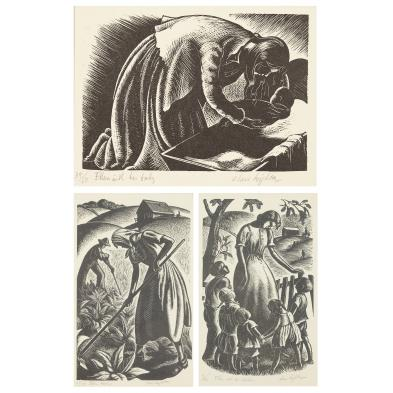 clare-leighton-1898-1989-three-wood-engravings
