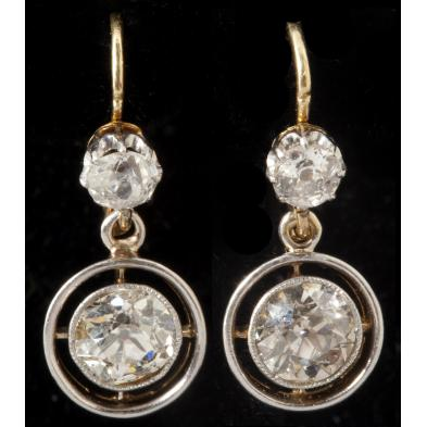 pair-of-antique-diamond-earrings