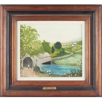 grandma-moses-ny-va-1860-1961-the-red-bridge