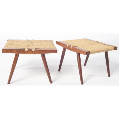 two-george-nakashima-stools