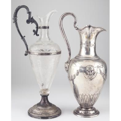 two-continental-claret-jugs-19th-century
