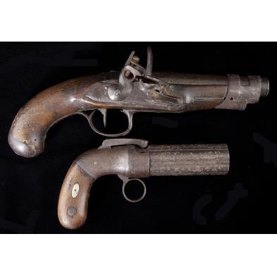 two-19th-century-pistols
