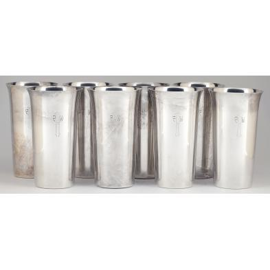 set-of-eight-sterling-silver-tumblers-by-randahl
