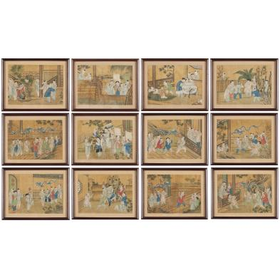 set-of-12-chinese-100-boys-paintings