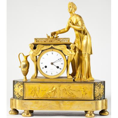 french-empire-gilded-mantel-clock