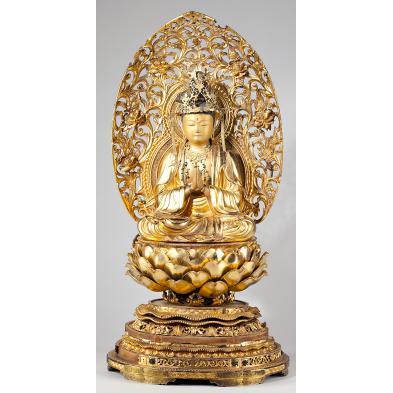 japanese-gilt-lacquered-wood-buddha