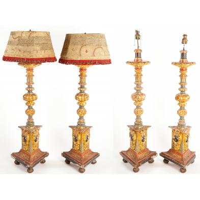 set-of-four-polychrome-venetian-floor-lamps