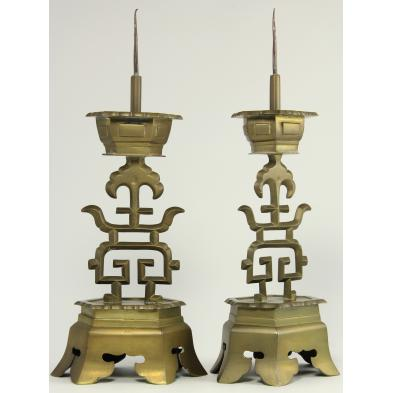 pair-of-chinese-bronze-candlesticks