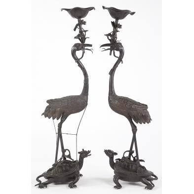 pair-of-japanese-bronze-floor-sculptures