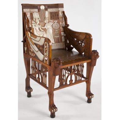 egyptian-revival-king-tut-arm-chair
