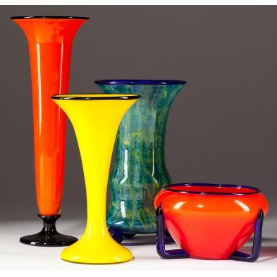 four-att-michael-powolny-art-deco-vases