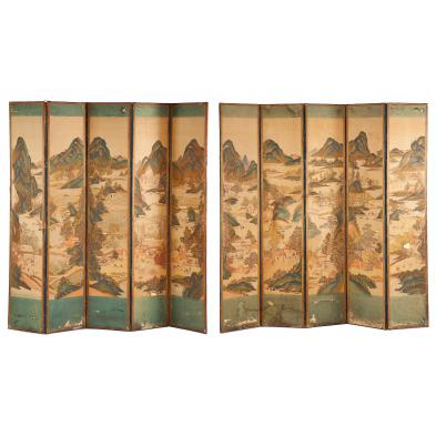antique-chinese-ten-panel-floor-screen