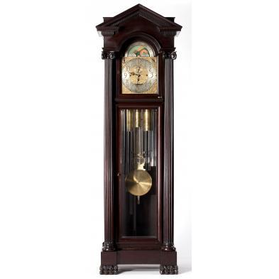 rare-13-tubular-chime-german-tall-case-clock