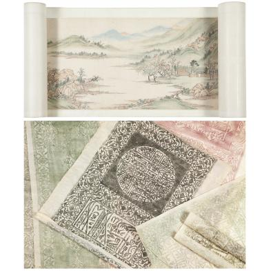 chinese-handscroll-painting-temple-rubbings