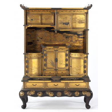 meiji-lacquer-and-gilt-display-cabinet