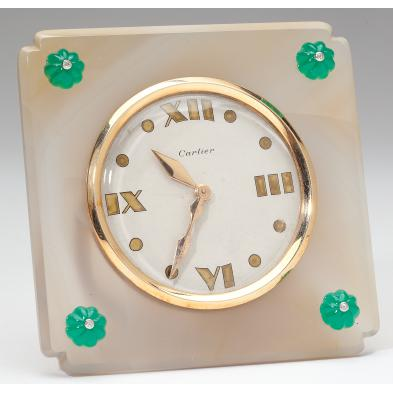 quartz-chrysoprase-diamond-desk-clock-cartier