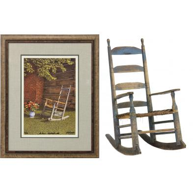 stokes-county-nc-painted-rocking-chair