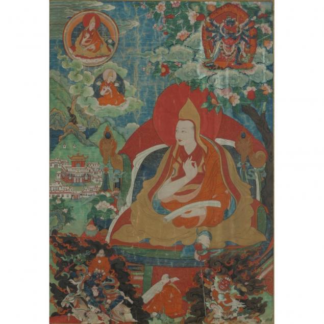 tibetan-thangka-representing-a-lama