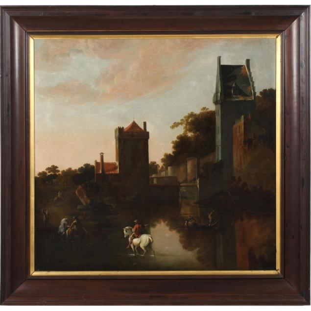 dutch-school-river-landscape-with-walled-town