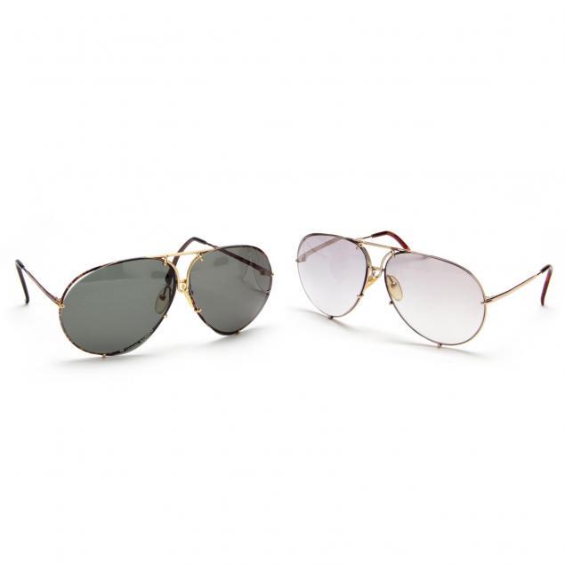two-pair-vintage-porsche-carrera-sunglasses
