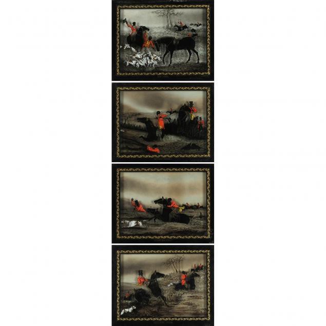 set-of-four-antique-english-hunt-scene-silhouettes