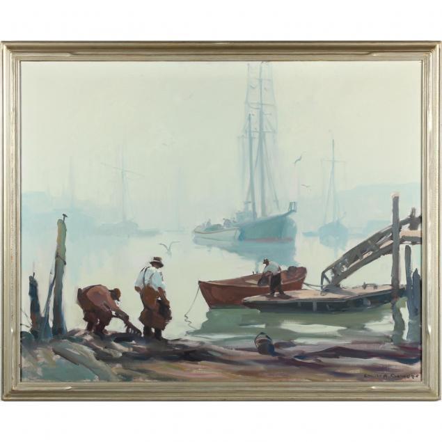 emile-gruppe-ma-1896-1978-along-the-docks