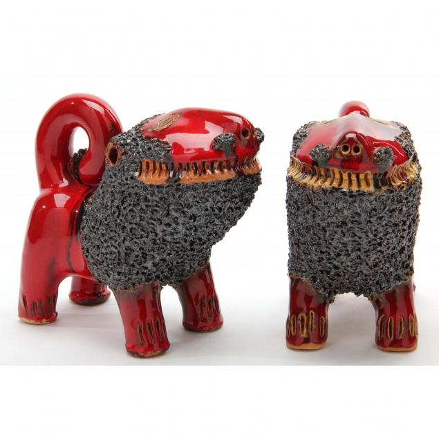 nc-folk-pottery-pair-of-lions-billy-ray-hussey