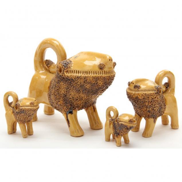 nc-folk-pottery-billy-ray-hussey-lion-family