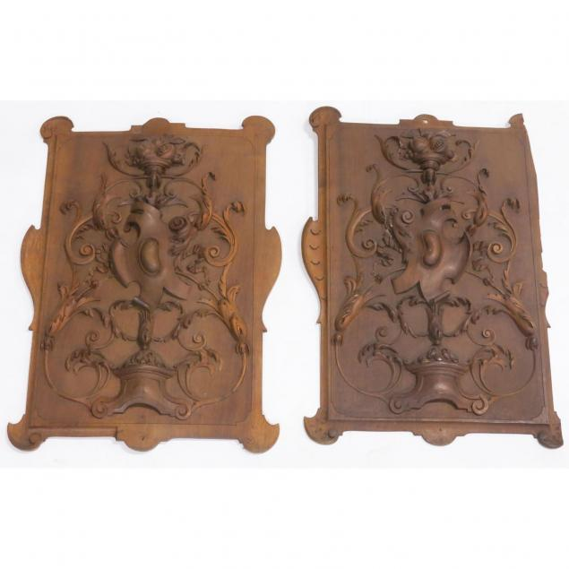 pair-of-black-forest-carved-wood-plaques