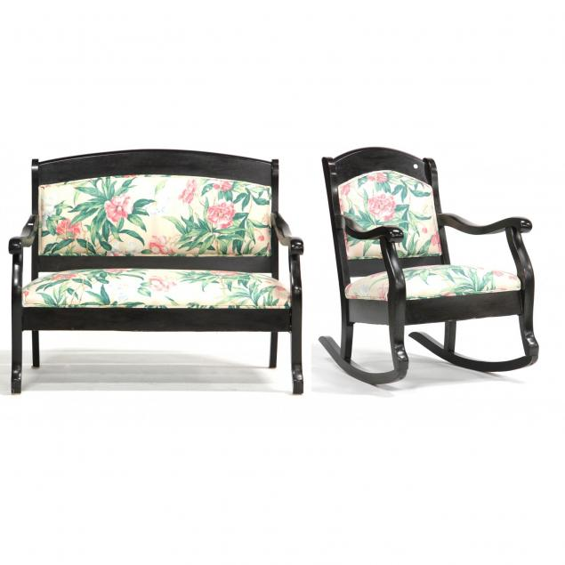 classical-style-settee-and-rocker