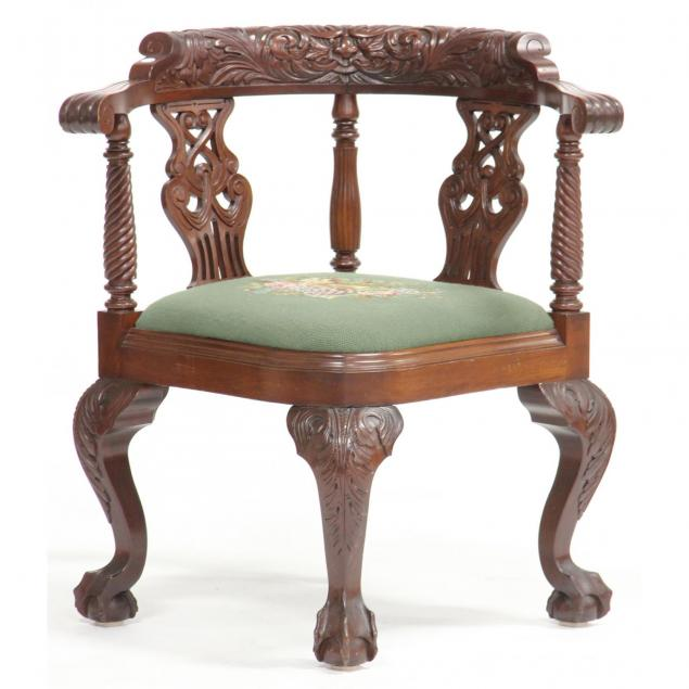 chippendale-style-carved-corner-chair