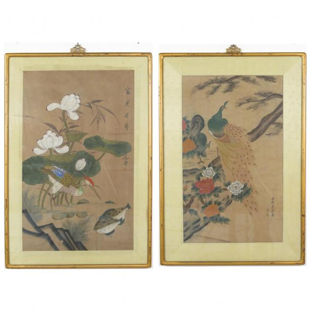 three-chinese-scroll-paintings