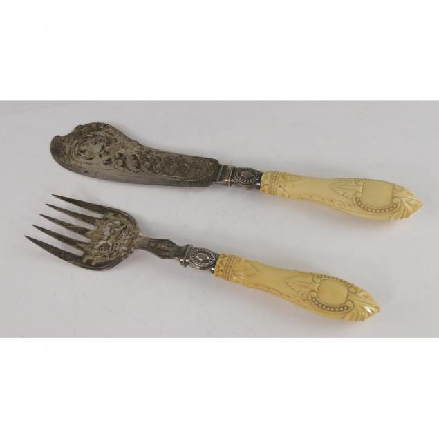 very-fine-english-victorian-silverplate-fish-serving-set