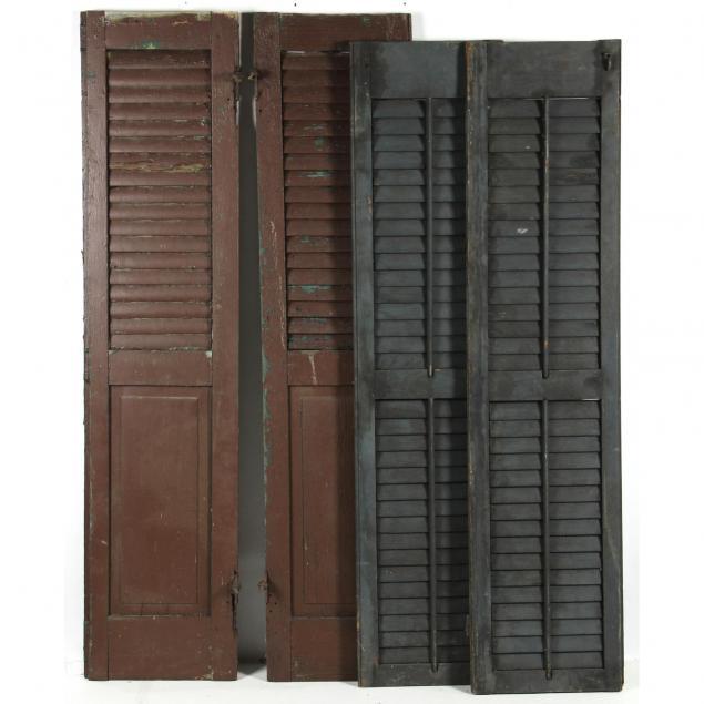 four-antique-painted-wood-plantation-style-shutters