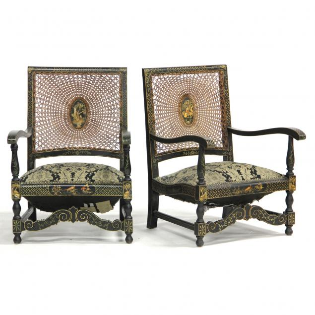 pair-of-chinoiserie-decorated-cane-back-arm-chairs