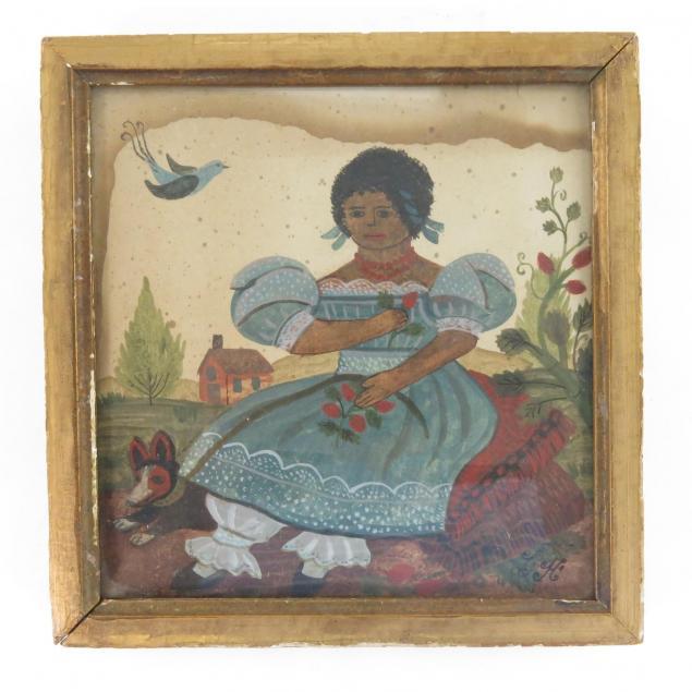 folk-portrait-of-black-girl-and-her-dog