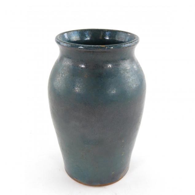 brown-pottery-vase-chinese-blue-glaze