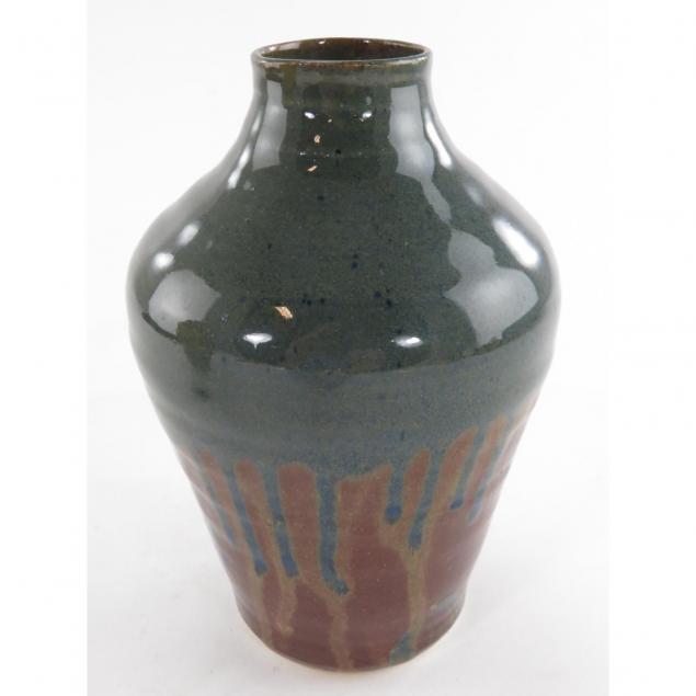 cross-creek-pottery-drip-glaze-vase