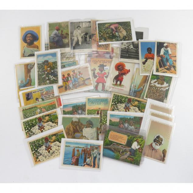 group-of-vintage-black-americana-post-cards