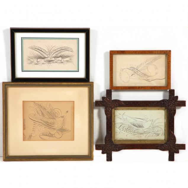4-early-american-calligraphy-ink-drawings