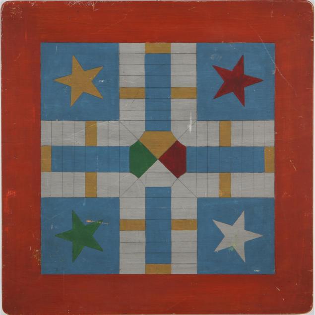 vintage-painted-wood-parcheesi-game-board