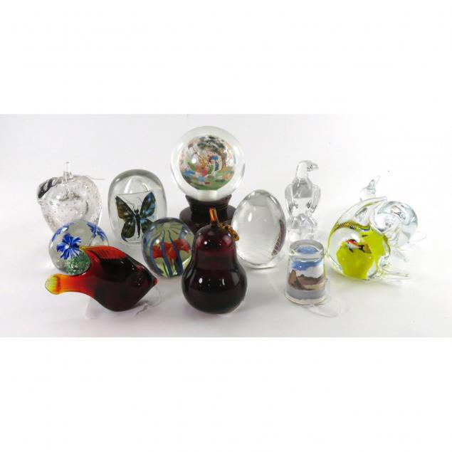 group-of-12-art-glass-paperweights