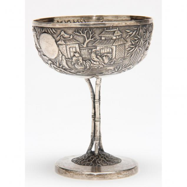 chinese-export-silver-champagne-coupe