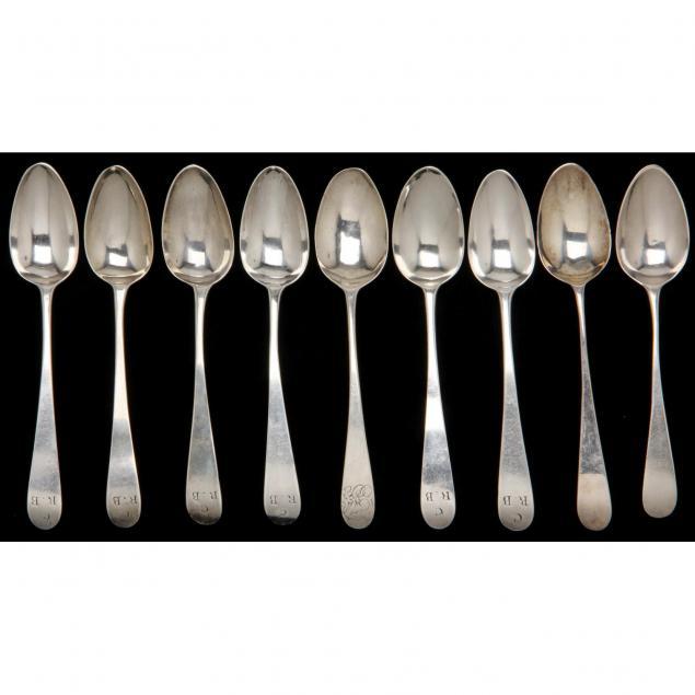 nine-bateman-family-georgian-silver-spoons-hester-bateman