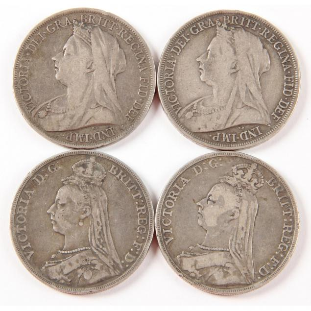 uk-four-4-victorian-silver-crowns